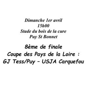 Gj Tess/Puy contre USJA Carquefou.