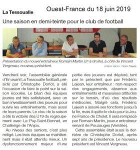 Ouest-France du 18 juin 2019.