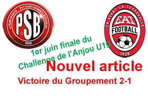 Samedi 1er juin, Finale du Challenge de l'Anjou U19.