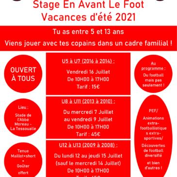 Stage En Avant Le Foot