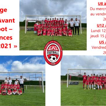 Stage «En Avant Le Foot – Vacances d'été 2021»