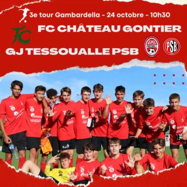 3e tour de coupe Gambardella pour les U18